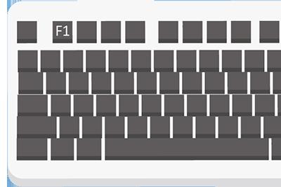 Hilfe zu Windows 10 - Mit der Taste F1 auf Ihrer Tastatur lässt sich die Hilfe öffnen